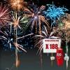 Feu d'artifice soirée VIP avec 188 lancements d'effets extrêmement variés