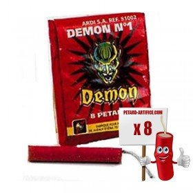 Pétards DEMON Demon N°1, le paquet de 8 pétards
