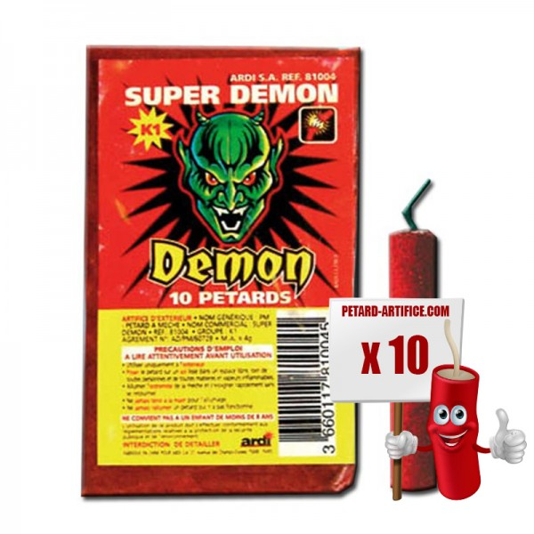 Pétards Super DEMON, le paquet de 8 pétards
