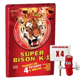 firecracker Super Bison K1 - THE TIGER, the pack of 4 firecrackers at a discount price