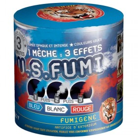 Fumigène Bleu - Blanc - Rouge