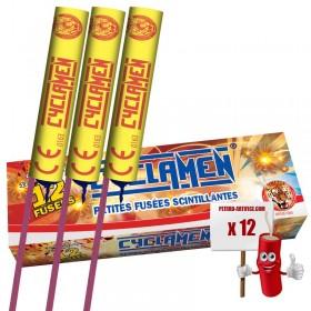 12 Fusées traçantes Cyclamen