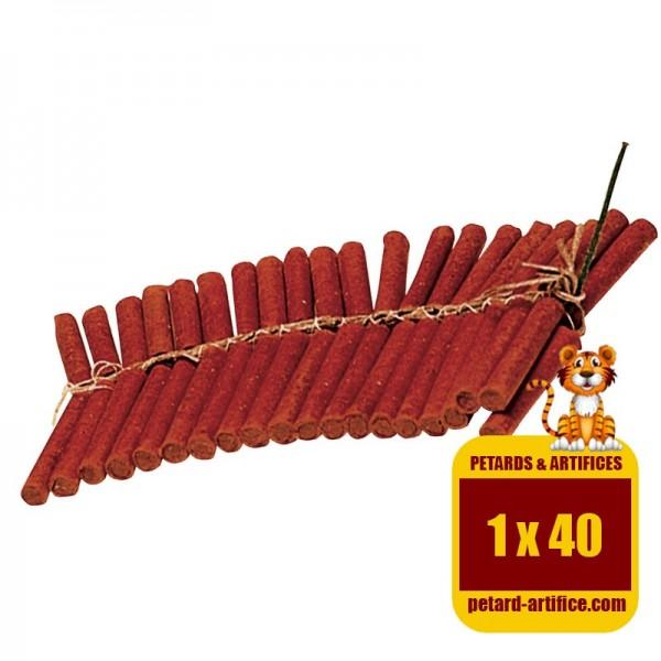 Le Tigre D3, chaîne de 40 pétards, effet mitraillette.